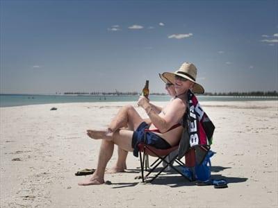 Hot Australia beach weather