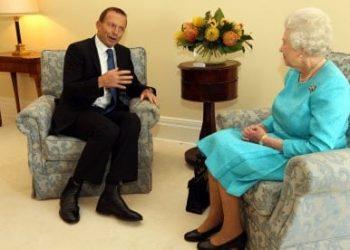 Tony Abbott and Queen Elizabeth II