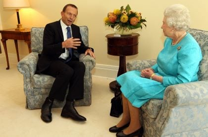 Tony Abbott and Queen Elizabeth II