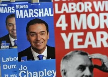 South Australia election posters