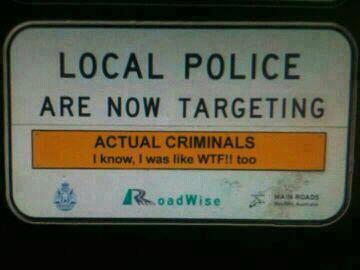 funny police signs
