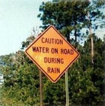 rain sign funny australia