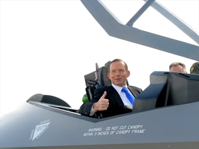 F-35 jet - Tony Abbott