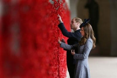 Anzac Day - Royal tour Australia