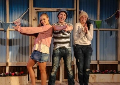 Once We Lived Here - Belinda Wollaston (Lecy) - Iestyn Arwel (Shaun) - Melle Stewart (Amy) - photo by Andreas Grieger