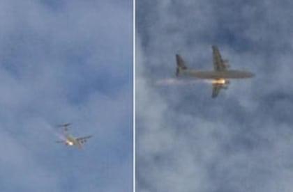 plane fire - perth australia