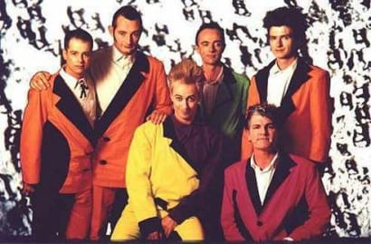 Split Enz: 80s fashion at its most deadly.
