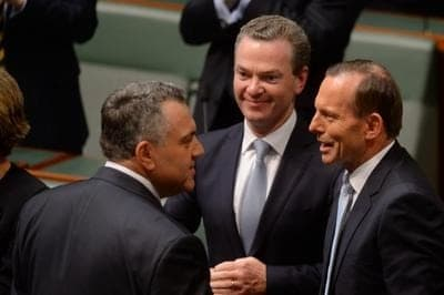 Australia budget 2014 - Hockey and Abbott