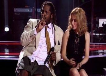The Voice Australia 2014 - Lionel Cole and Kylie Minogue