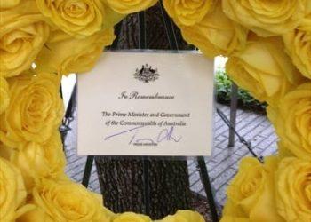 Tony Abbott 9/11 Memorial wreath