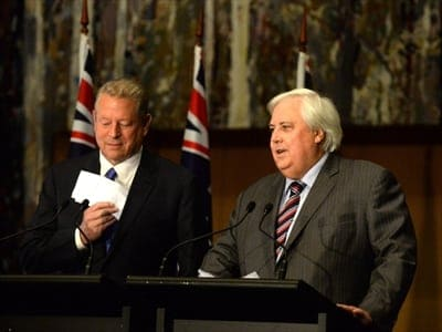 Al Gore and Clive Palmer