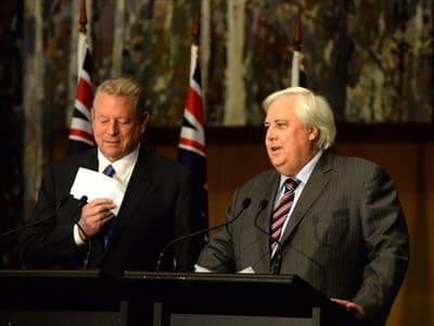 Al Gore and Clive Palmer