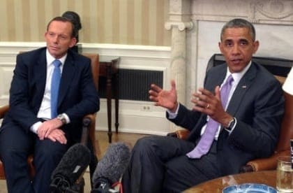 Barack Obama and Tony Abbott 2