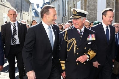 D-Day Anniversary - Tony Abbott and Prince Charles