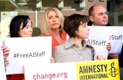 Media rallies to call for Peter Greste's release