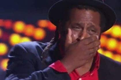 The Voice Australia - Lionel Cole (crying)