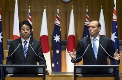 Tony Abbot and Shinzo Abe