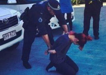 Lily Allen prank handcuffs Australia
