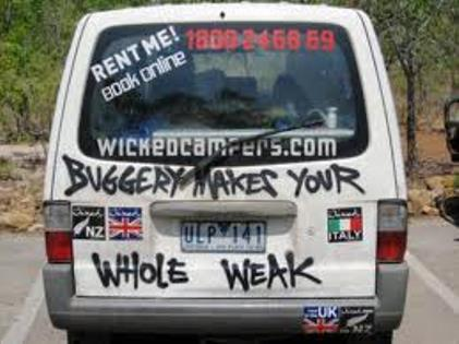 Witch hunt for Australia's Wicked Campers    and their video