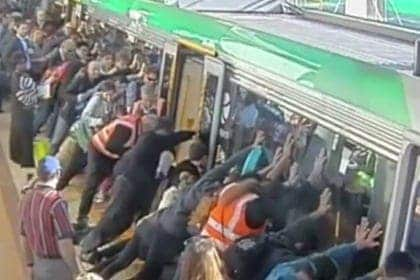 train save man perth australia video