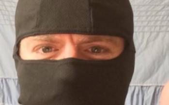 Ninja man enters mall in anti burqa demonstration