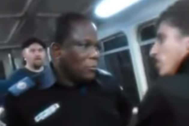 racist train attack video australia