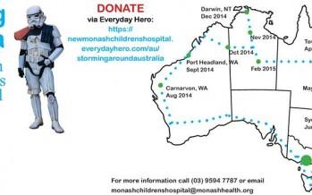 Australian Stormtrooper eats roadkill to raise funds