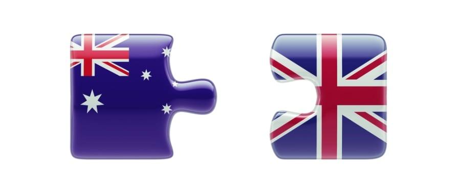 Australia - United Kingdon - shutterstock_205515010