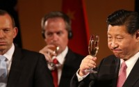Abbott confuses China with Tasmania while toasting President Xi