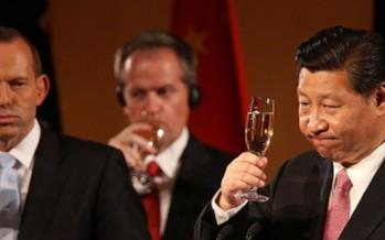 Abbott confuses China with Tasmania while toasting President Xi