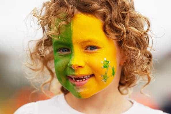 Australia Supporter Face Paint