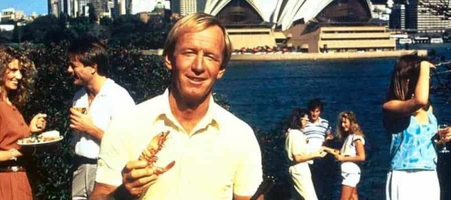 Australia - Paul Hogan - Shrimp on the barbie advert stereotype