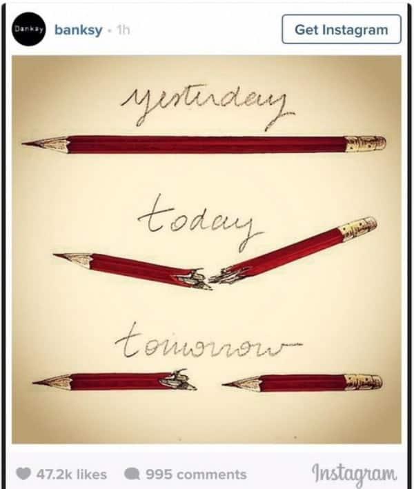 Banksy Charlie Hebdo cartoon response