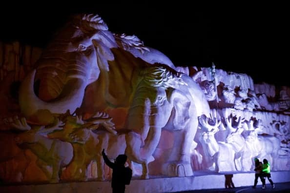 Harbin International Ice and Snow Sculpture Festival. (Photo by Lintao Zhang/Getty Images)