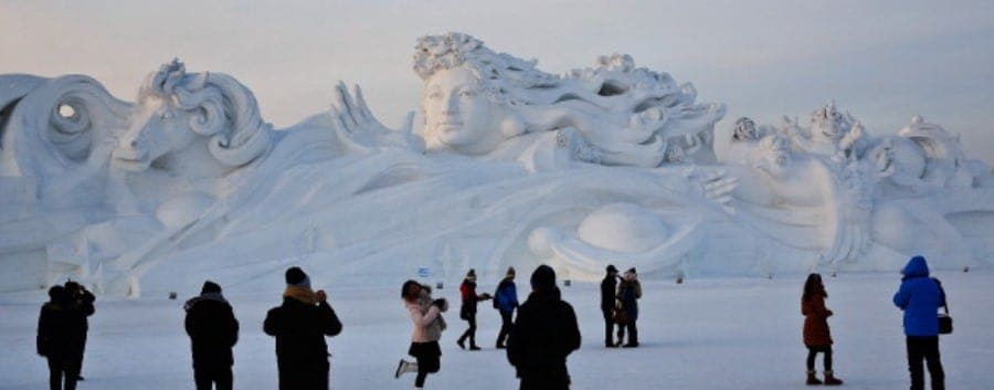 Ice Sculpture, China