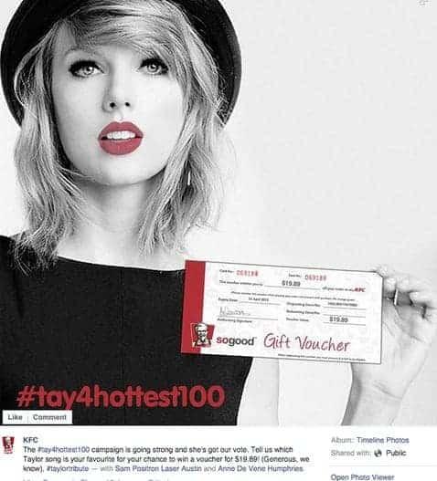 Taylor Swift KFC