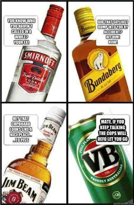 Talking booze