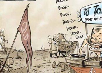 Abbott - leadership - catoon - DJ-tone-deaf