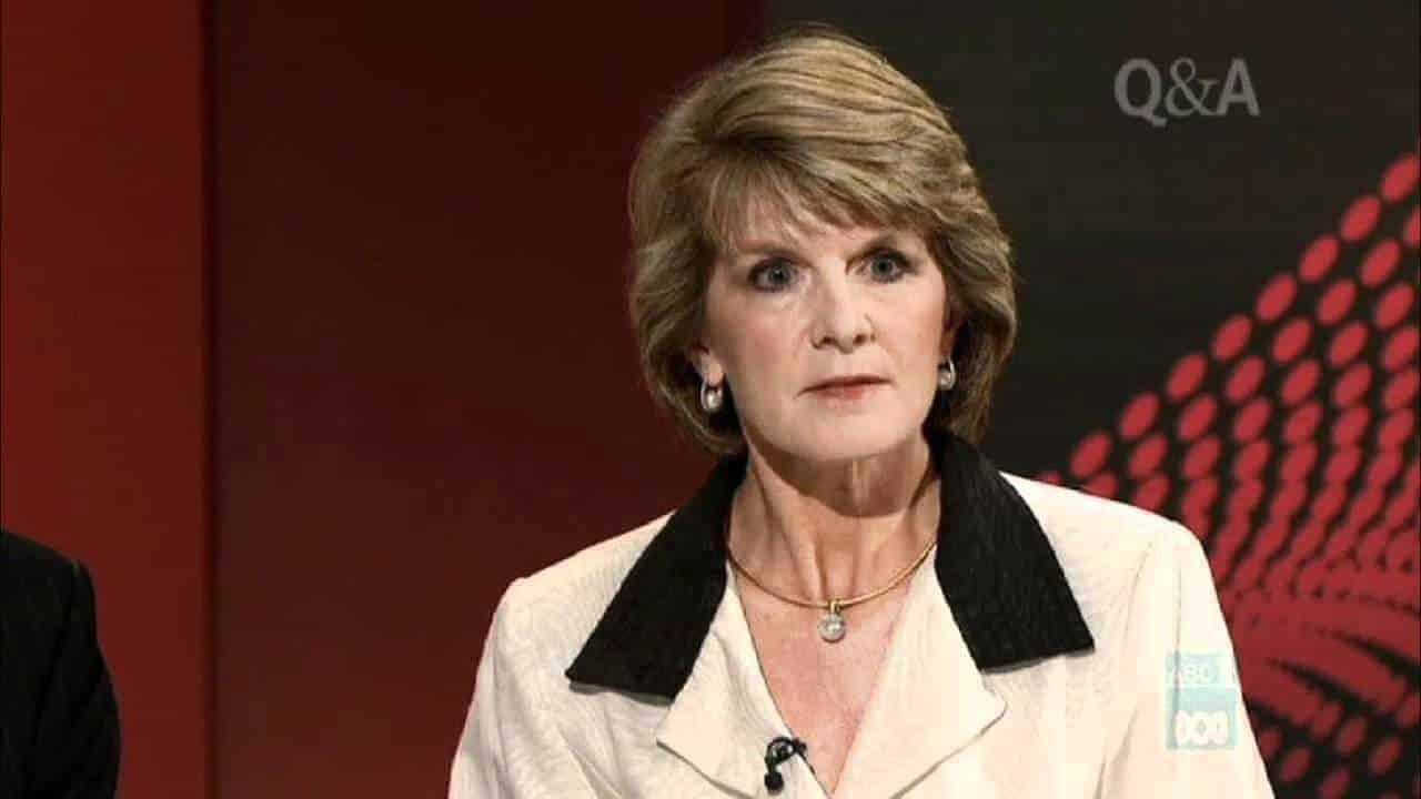 Julie Bishop glare
