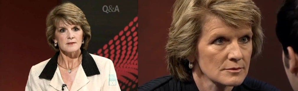 Julie Bishop stare