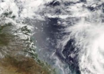 Cyclone Marcia - Australia - satellite map