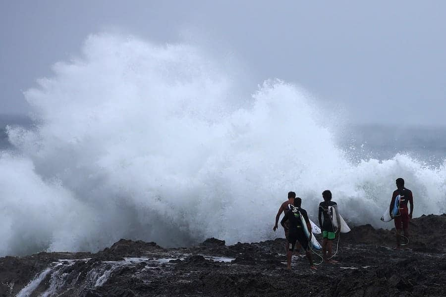 Snapper Rocks, Gold Coast, 20 February. Photo by Chris Hyde/Getty Images