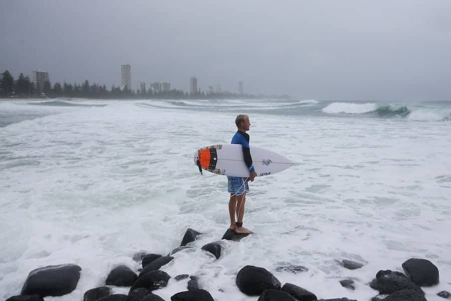 Burleigh Heads, Gold Coast, 20 February. Photo by Chris Hyde/Getty Images