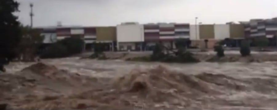 Cyclone Marcia River Rages Through Rocky Video