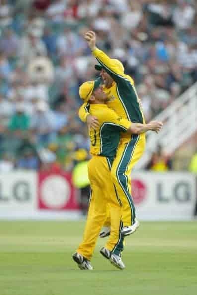 Cricket World Cup final - Darren Lehmann and Damien Martyn
