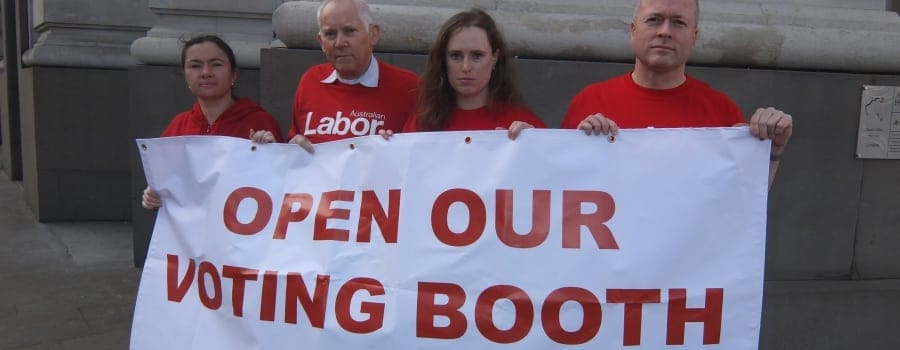 NSW election - Australia House - London protest - ALP Abroad