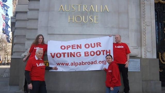 NSW election - Australia House - London protest - ALP Abroad
