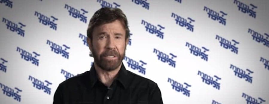 chuck norris israel election video