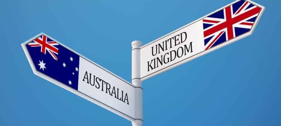 living in Australia or Britain United Kingdom