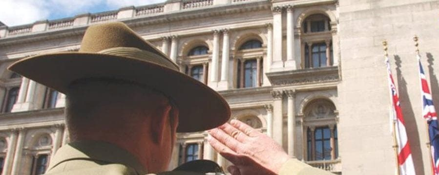 Anzac day in London